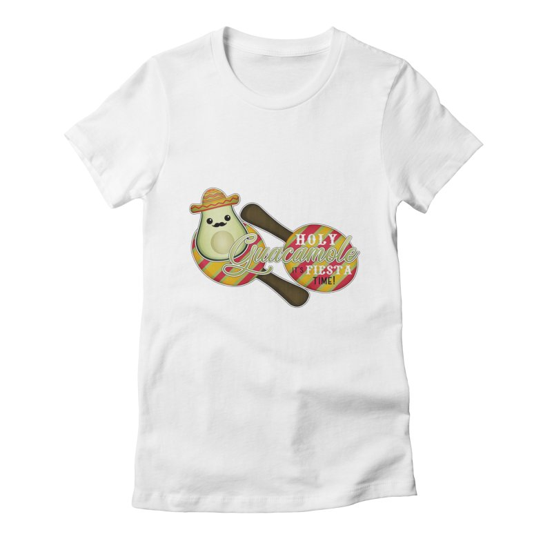 Holy Guacamole Women's Fitted T-Shirt by boogleloo's Shop