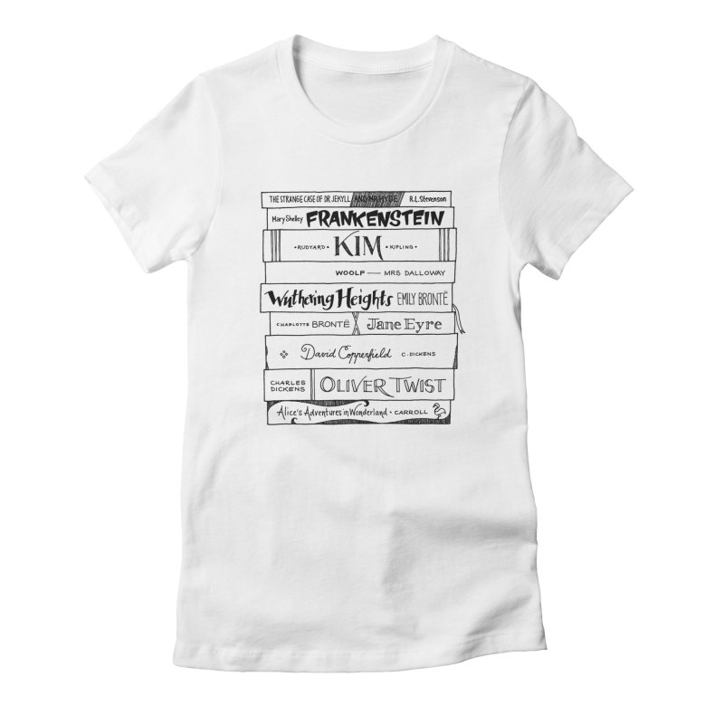 English Classics Bookstee Women's Fitted T-Shirt by Bookstee