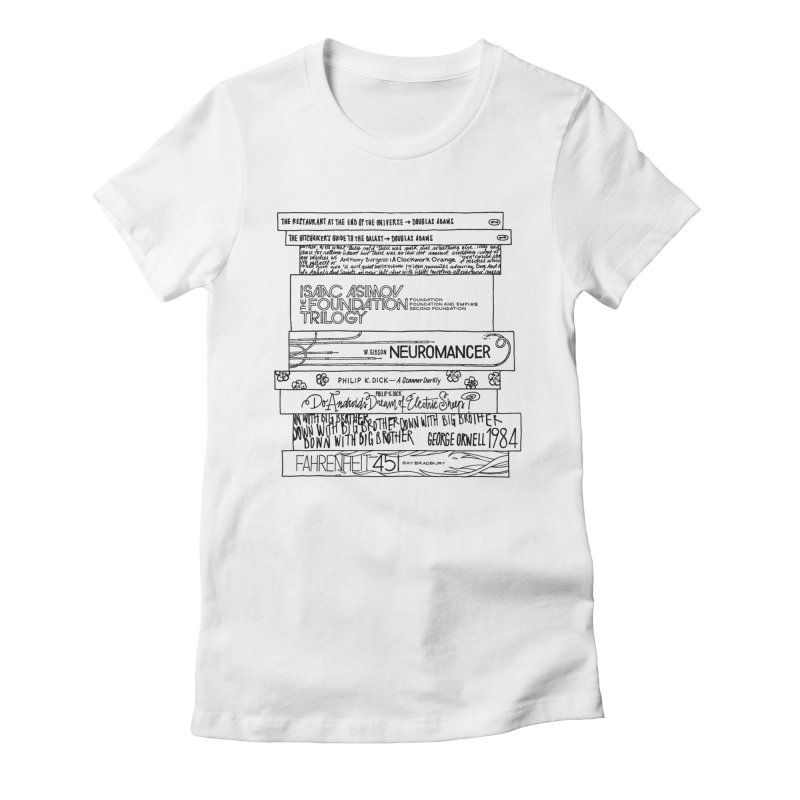 Sci-fi / Dystopias Bookstee Women's Fitted T-Shirt by Bookstee