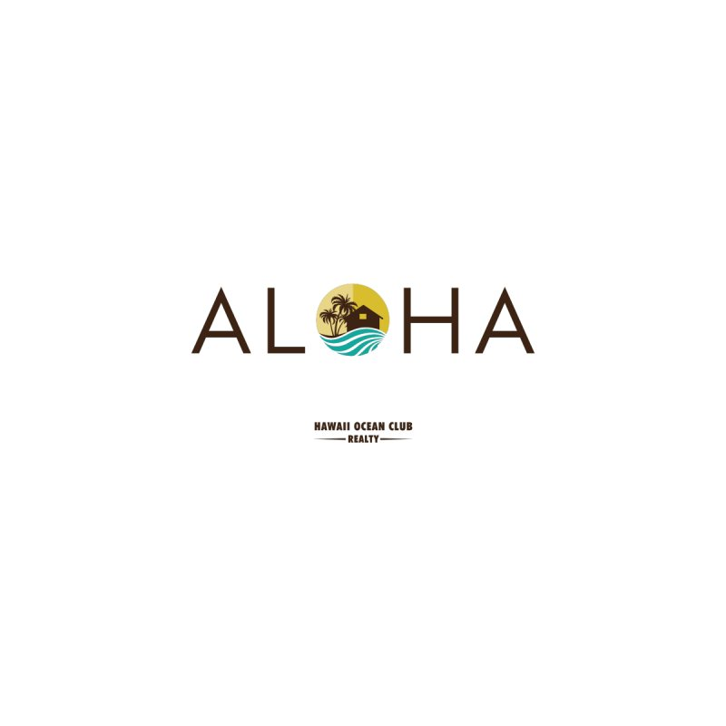 ALOHA.hoc realty Home Throw Pillow by Book This Hawaii Apparel Shop