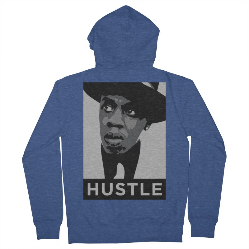 Hustle Men's Zip-Up Hoody by Boom Bap Beatnik Shop