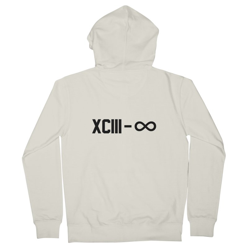 XCIII – ∞ Men's Zip-Up Hoody by Boom Bap Beatnik Shop