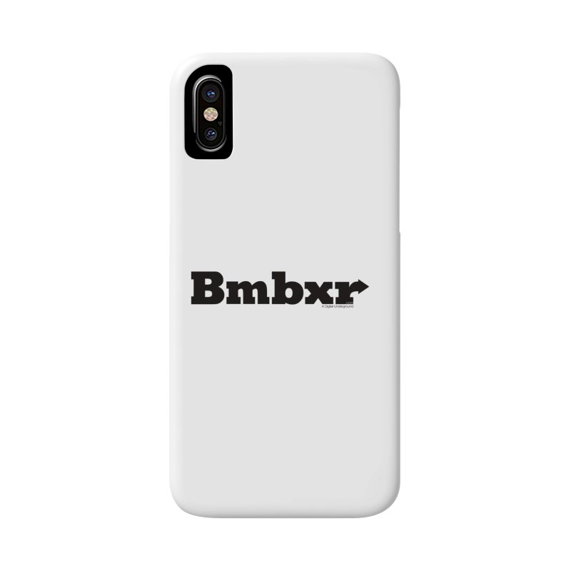 Boomboxr Logo'd Accessories Phone Case by boomboxr's Artist Shop