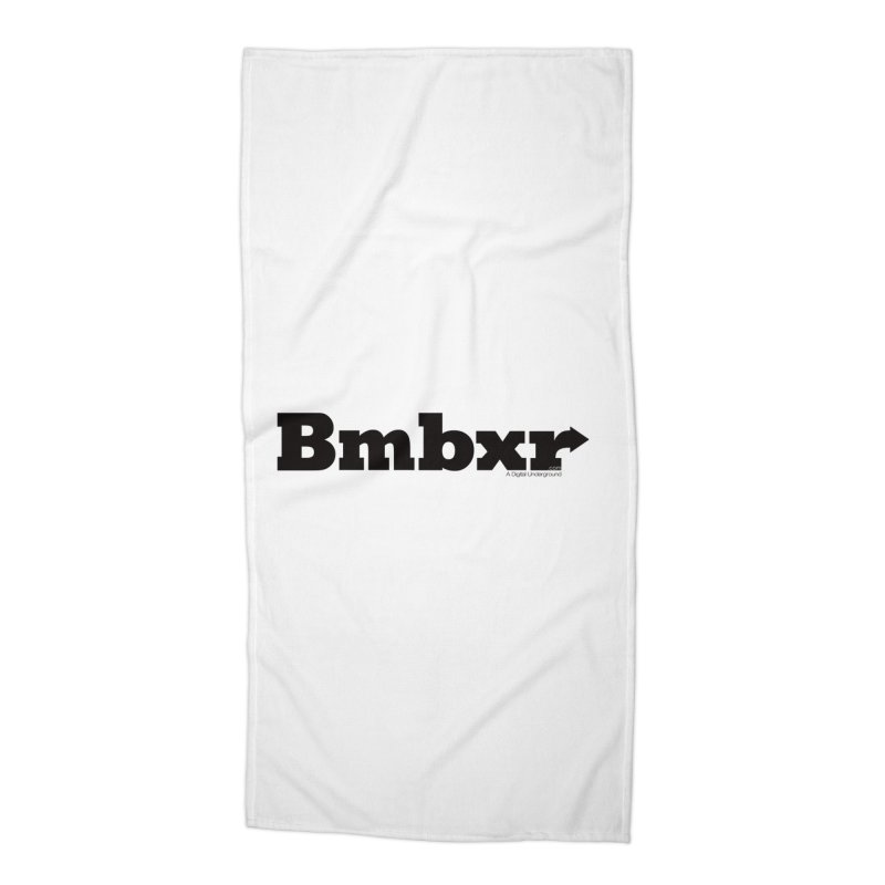 Boomboxr Logo'd Accessories Beach Towel by boomboxr's Artist Shop