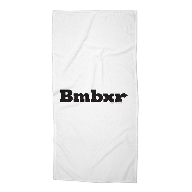 Boomboxr Logo'd Accessories Beach Towel by boomboxr's Artist Shop