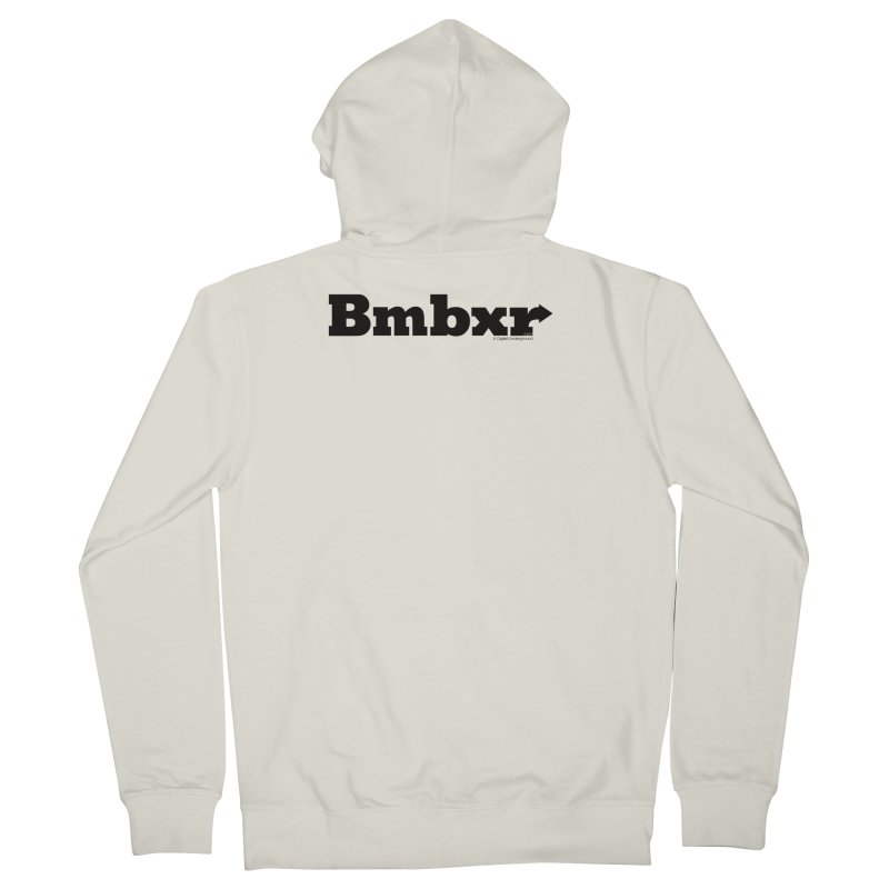 Boomboxr Logo'd Women's French Terry Zip-Up Hoody by boomboxr's Artist Shop