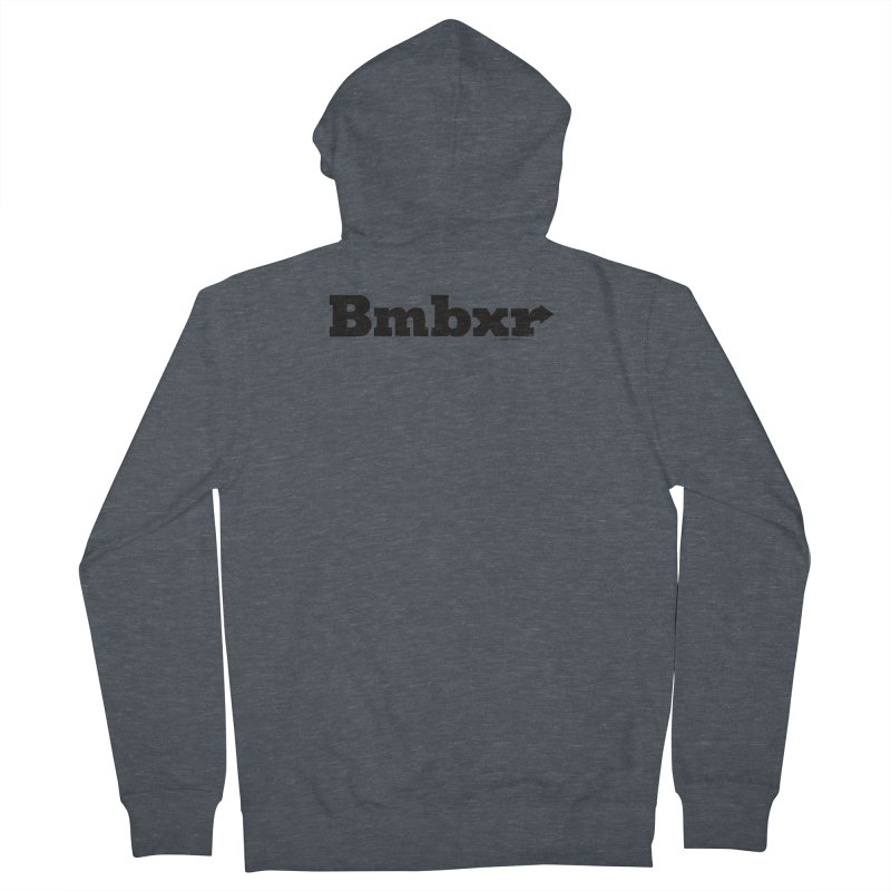 Boomboxr Logo'd Men's French Terry Zip-Up Hoody by boomboxr's Artist Shop