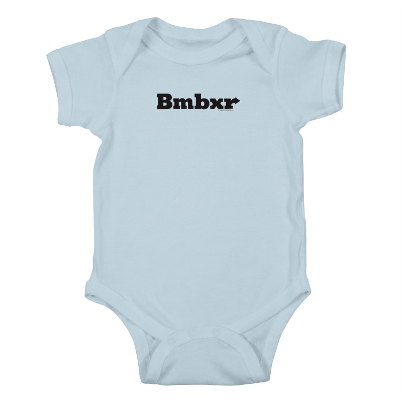 Boomboxr Logo'd Kids Baby Bodysuit by boomboxr's Artist Shop