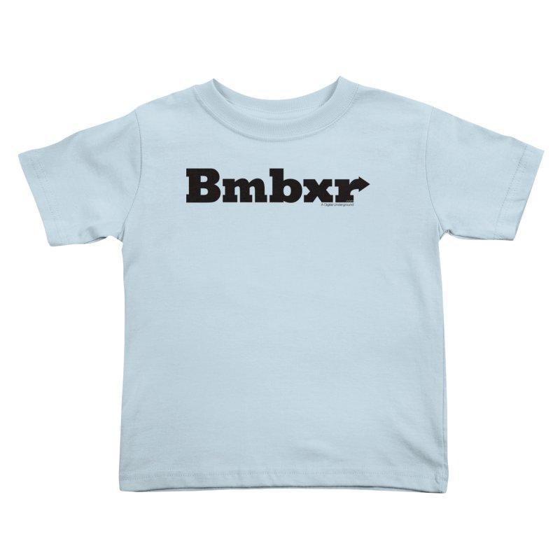 Boomboxr Logo'd Kids Toddler T-Shirt by boomboxr's Artist Shop