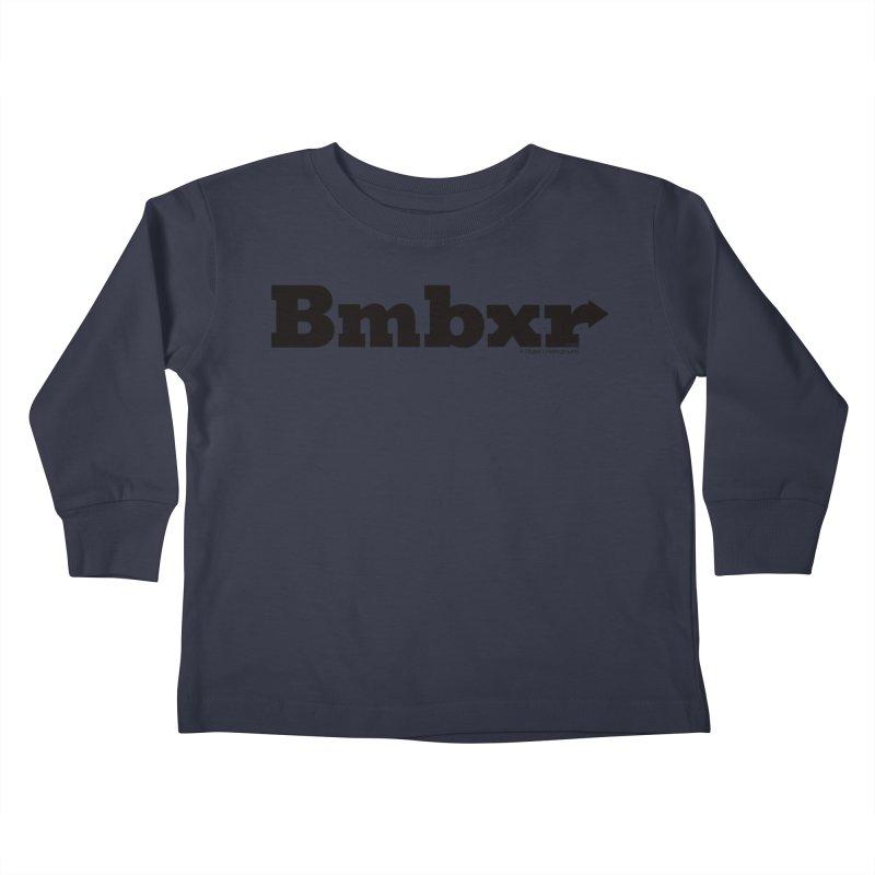 Boomboxr Logo'd Kids Toddler Longsleeve T-Shirt by boomboxr's Artist Shop