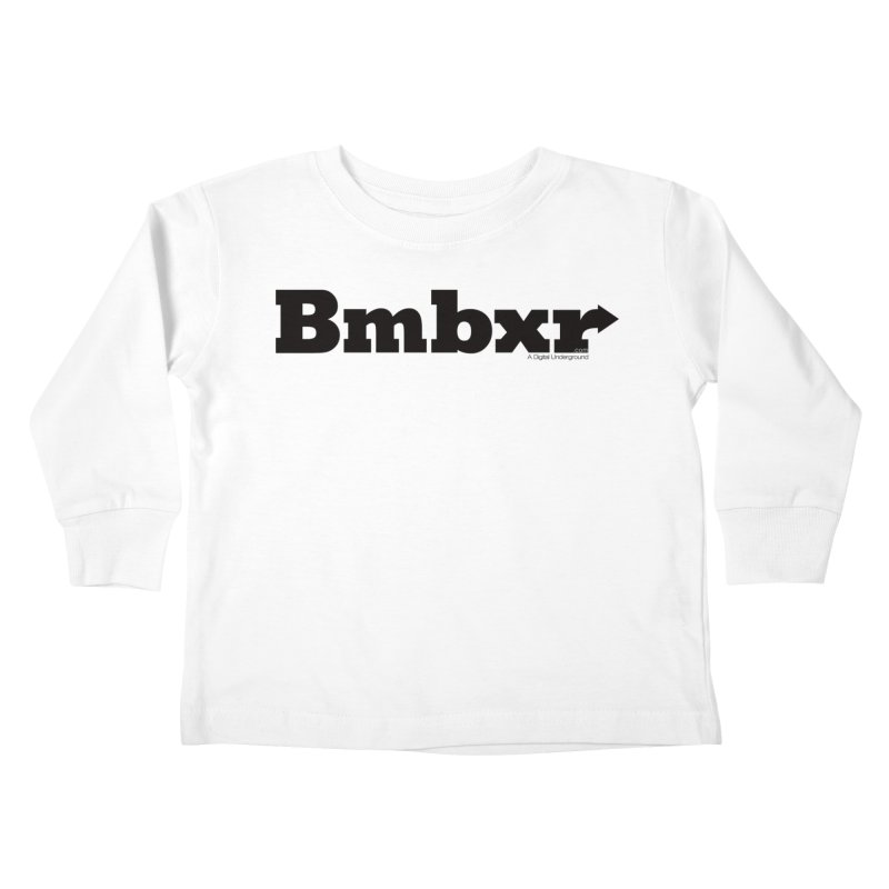 Boomboxr Logo'd Kids Toddler Longsleeve T-Shirt by boomboxr's Artist Shop