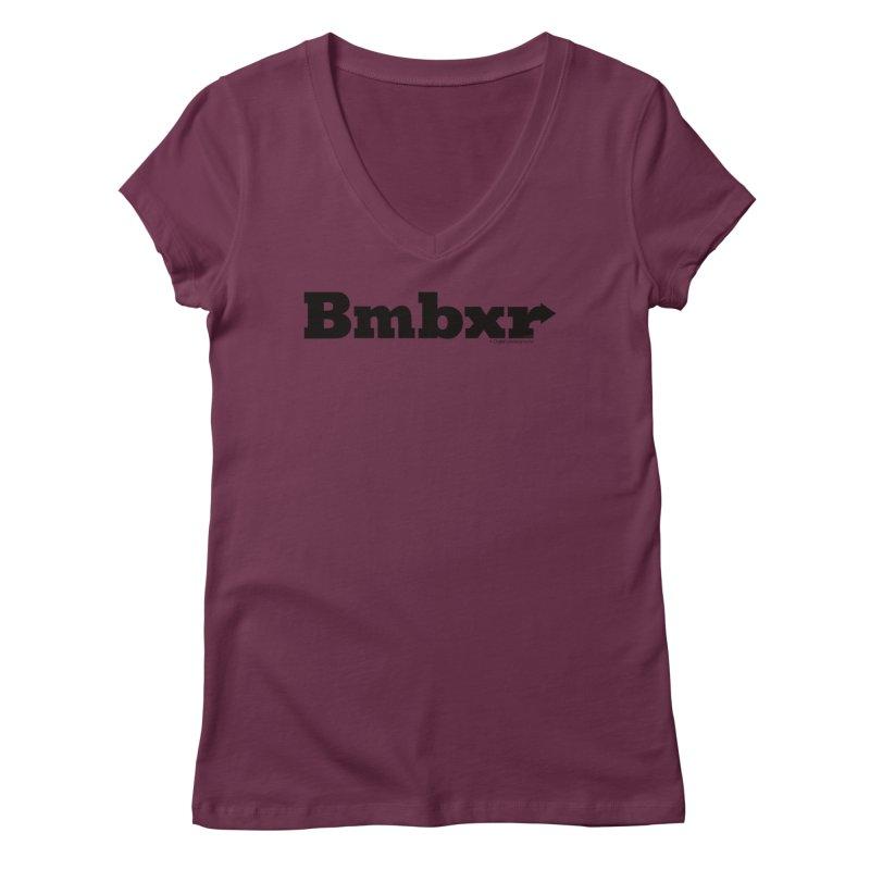 Boomboxr Logo'd Women's V-Neck by boomboxr's Artist Shop