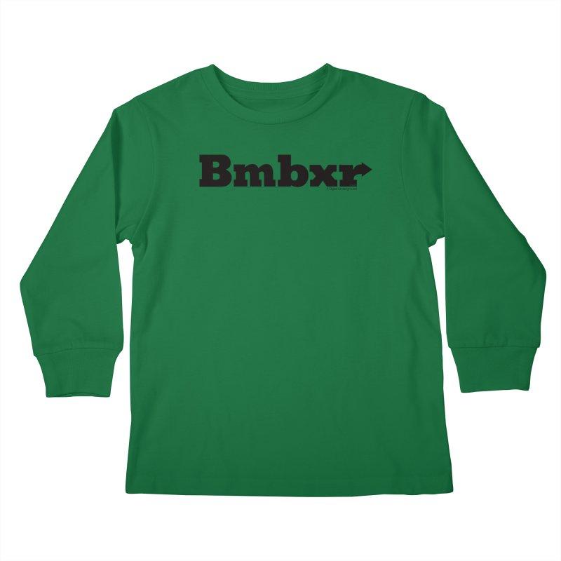 Boomboxr Logo'd Kids Longsleeve T-Shirt by boomboxr's Artist Shop