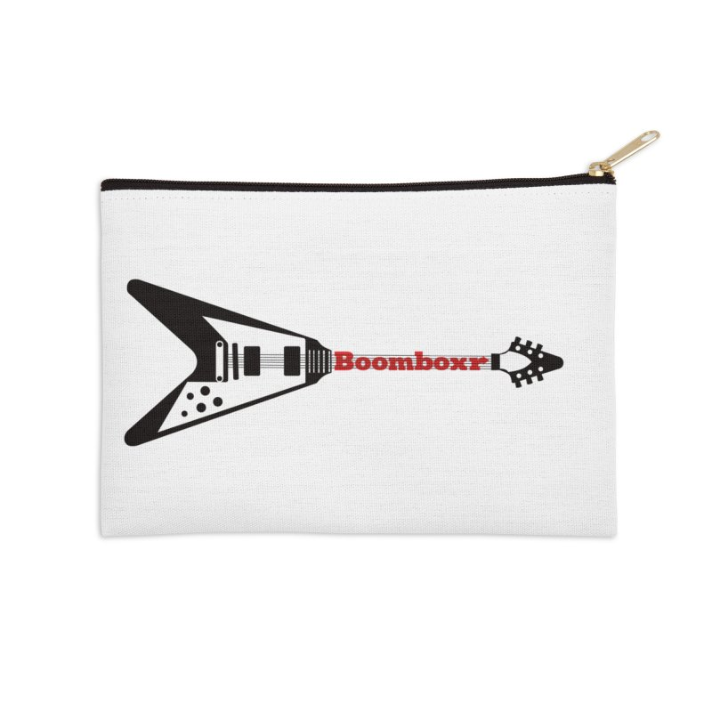 Boomboxr Flying V logo Accessories Zip Pouch by boomboxr's Artist Shop