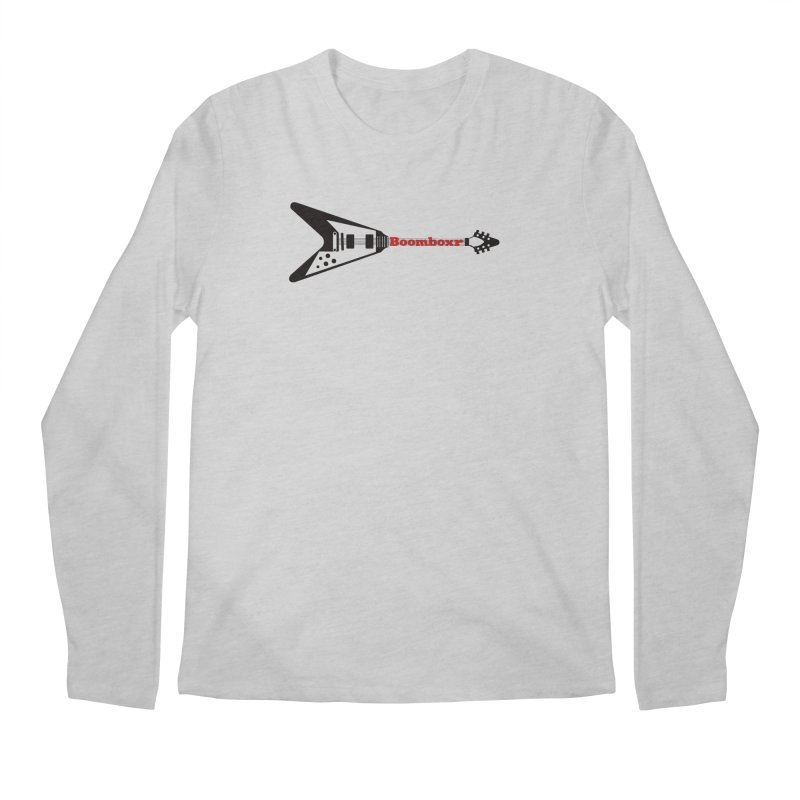 Boomboxr Flying V logo Men's Longsleeve T-Shirt by boomboxr's Artist Shop