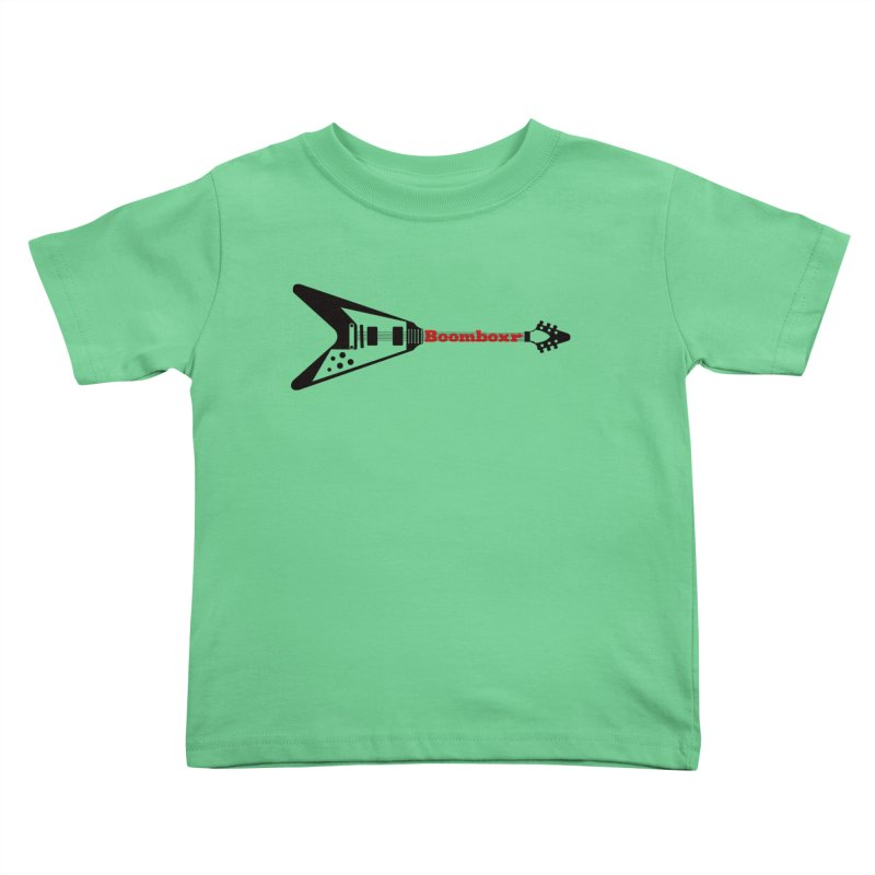 Boomboxr Flying V logo Kids Toddler T-Shirt by boomboxr's Artist Shop