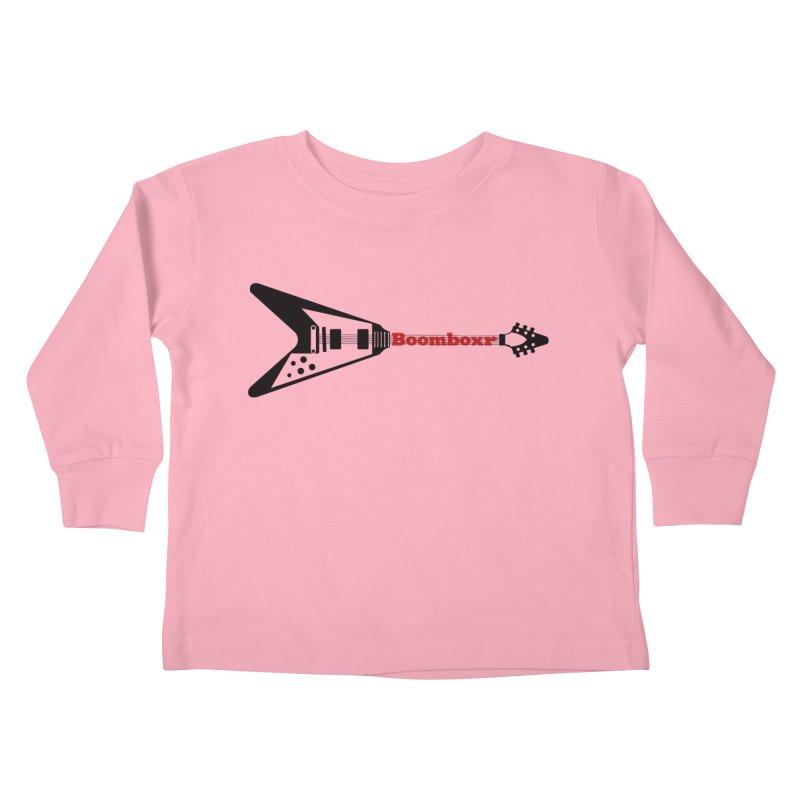 Boomboxr Flying V logo Kids Toddler Longsleeve T-Shirt by boomboxr's Artist Shop