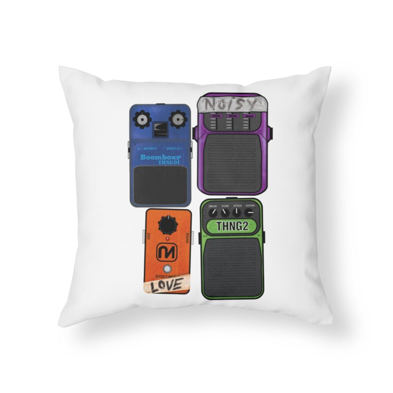 Noisy Love Home Throw Pillow by boomboxr's Artist Shop