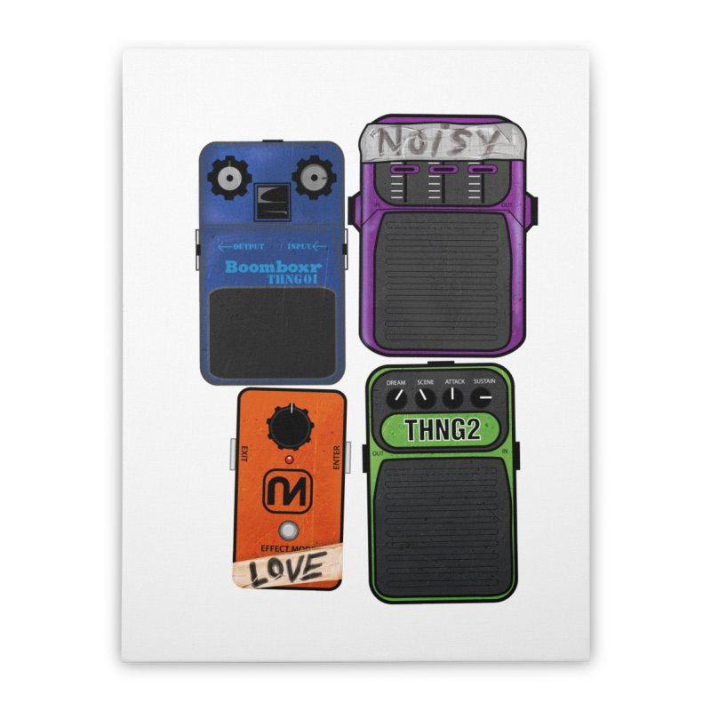 Noisy Love Home Stretched Canvas by boomboxr's Artist Shop