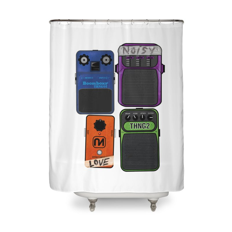 Noisy Love Home Shower Curtain by boomboxr's Artist Shop