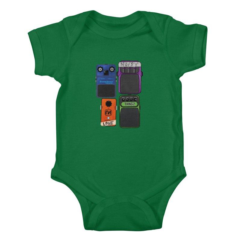 Noisy Love Kids Baby Bodysuit by boomboxr's Artist Shop