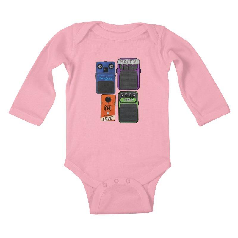 Noisy Love Kids Baby Longsleeve Bodysuit by boomboxr's Artist Shop