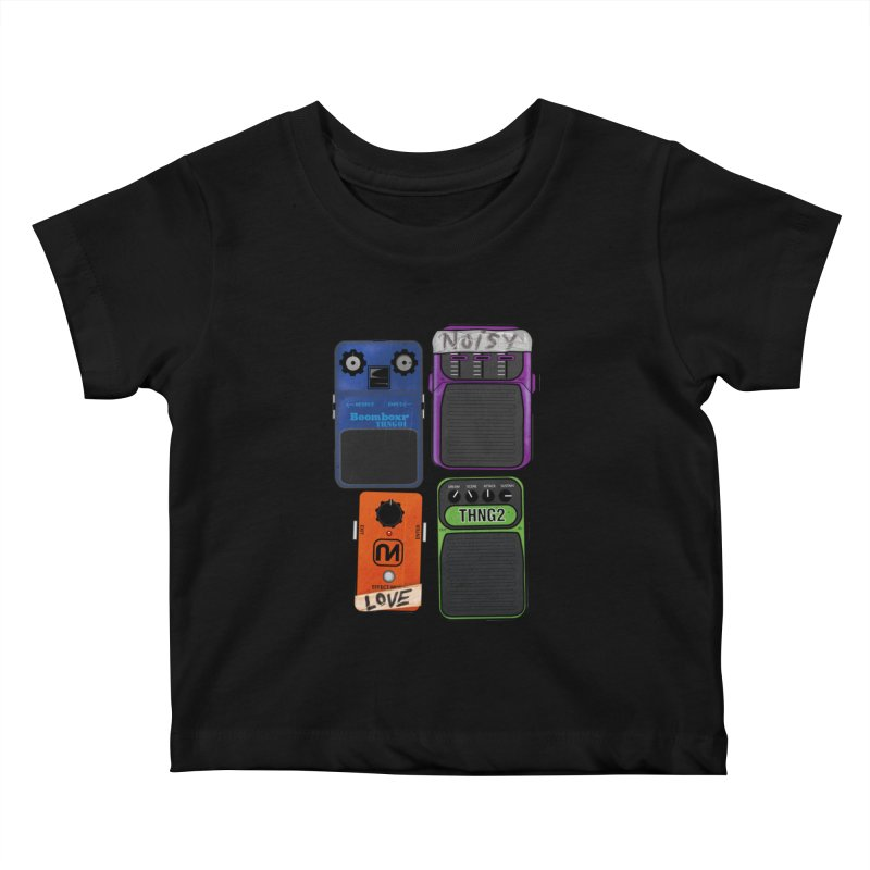 Noisy Love Kids Baby T-Shirt by boomboxr's Artist Shop