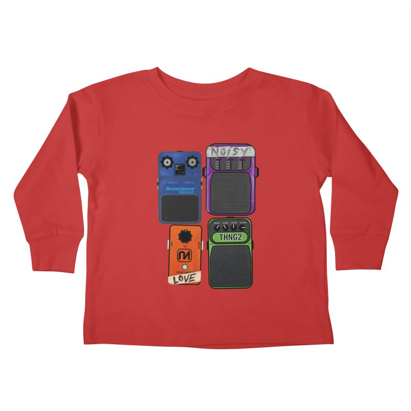 Noisy Love Kids Toddler Longsleeve T-Shirt by boomboxr's Artist Shop