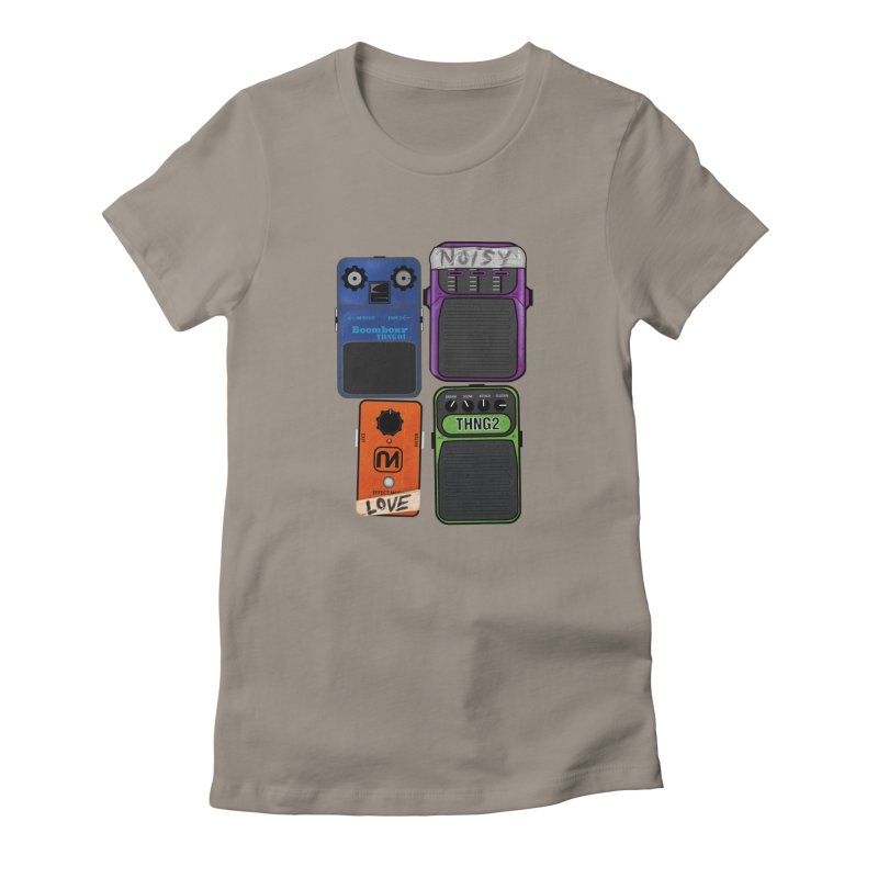 Noisy Love Women's Fitted T-Shirt by boomboxr's Artist Shop
