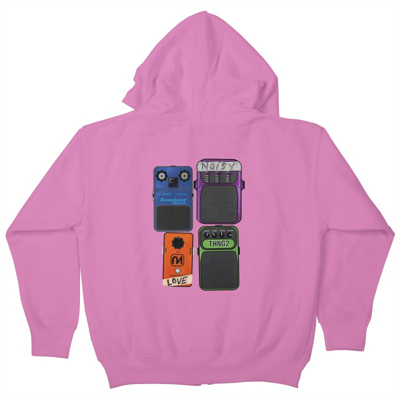 Noisy Love Kids Zip-Up Hoody by boomboxr's Artist Shop