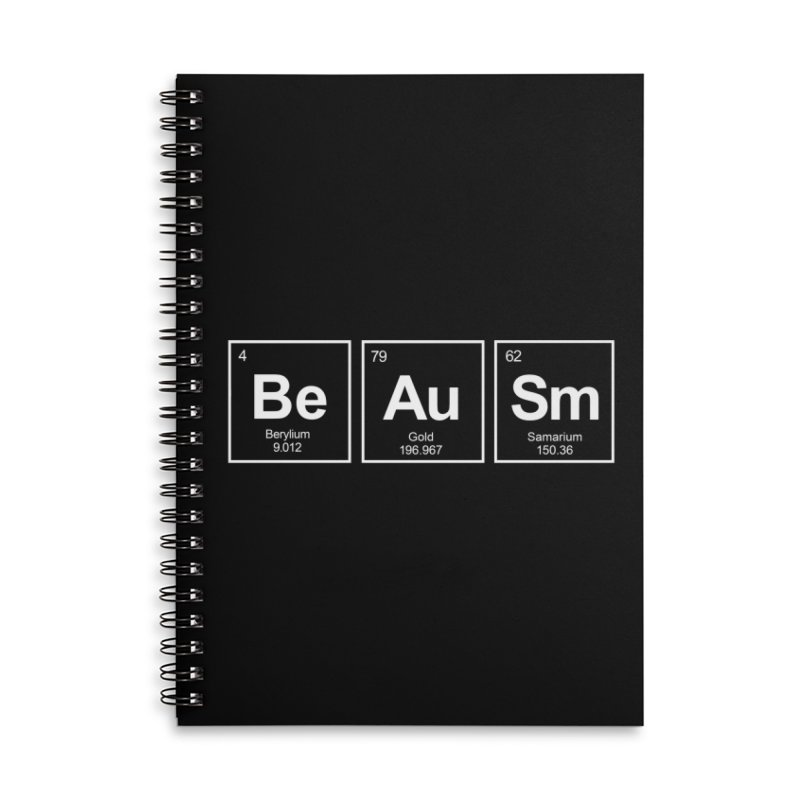 Be Awesome Accessories Lined Spiral Notebook by booster's Artist Shop