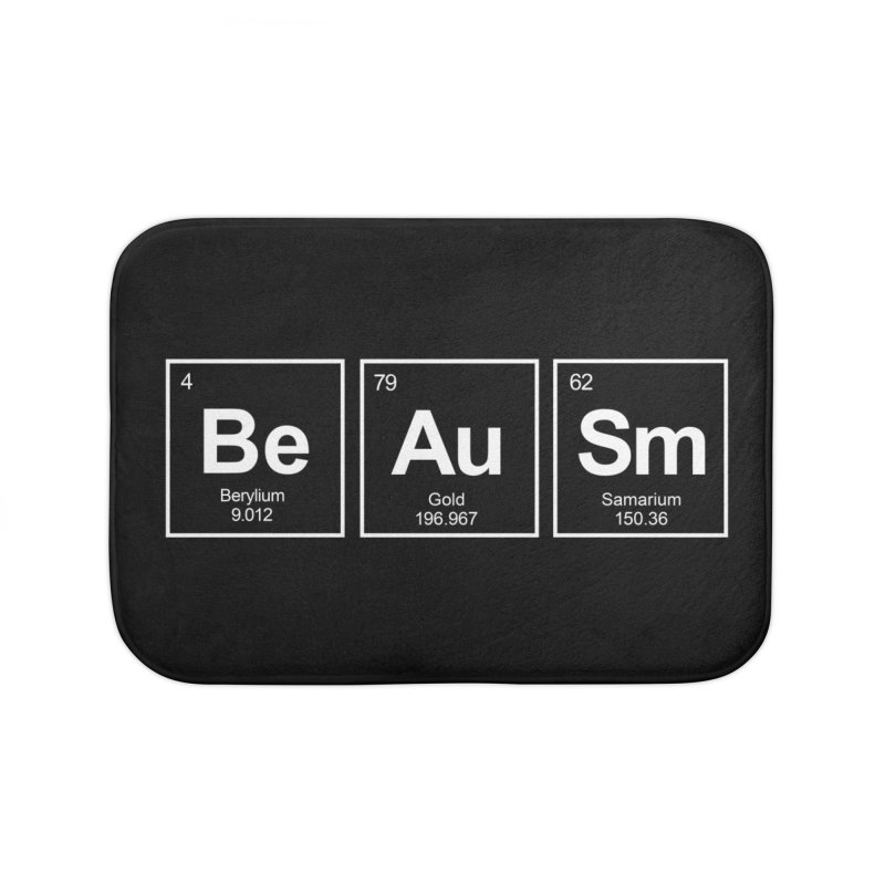 Be Awesome Home Bath Mat by booster's Artist Shop