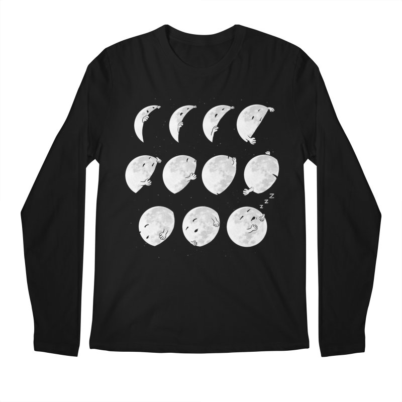 Lunar Phases of Sleep Men's Longsleeve T-Shirt by booster's Artist Shop