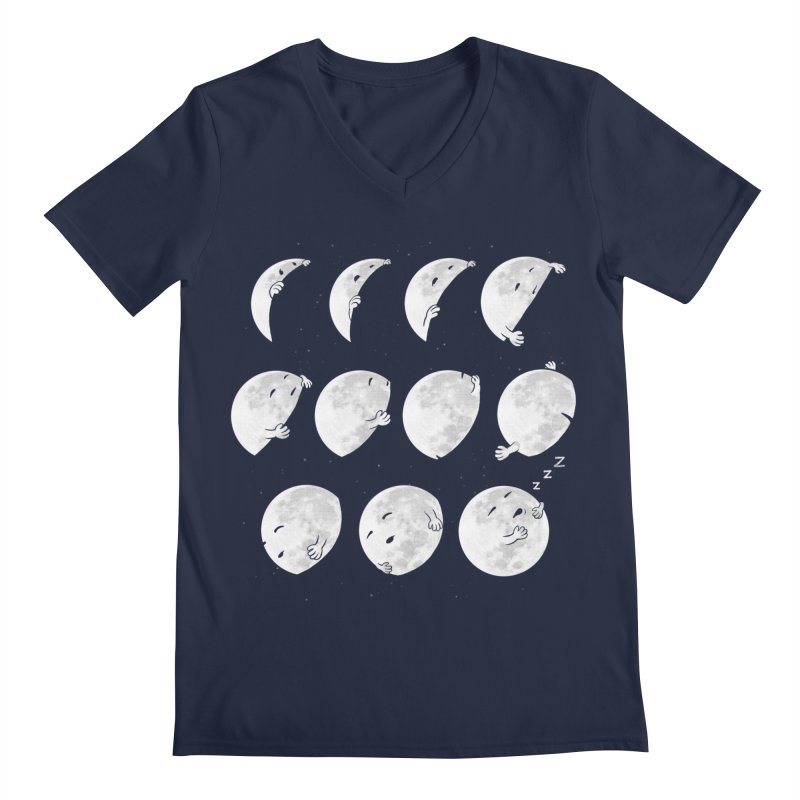 Lunar Phases of Sleep Men's V-Neck by booster's Artist Shop