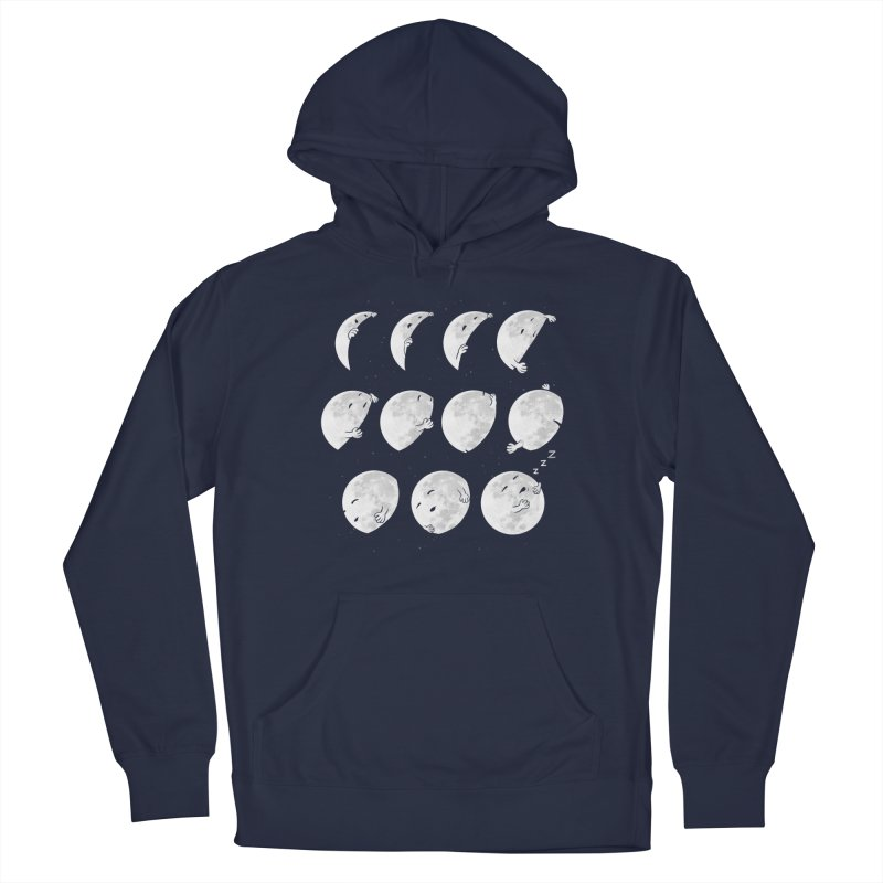 Lunar Phases of Sleep Women's French Terry Pullover Hoody by booster's Artist Shop