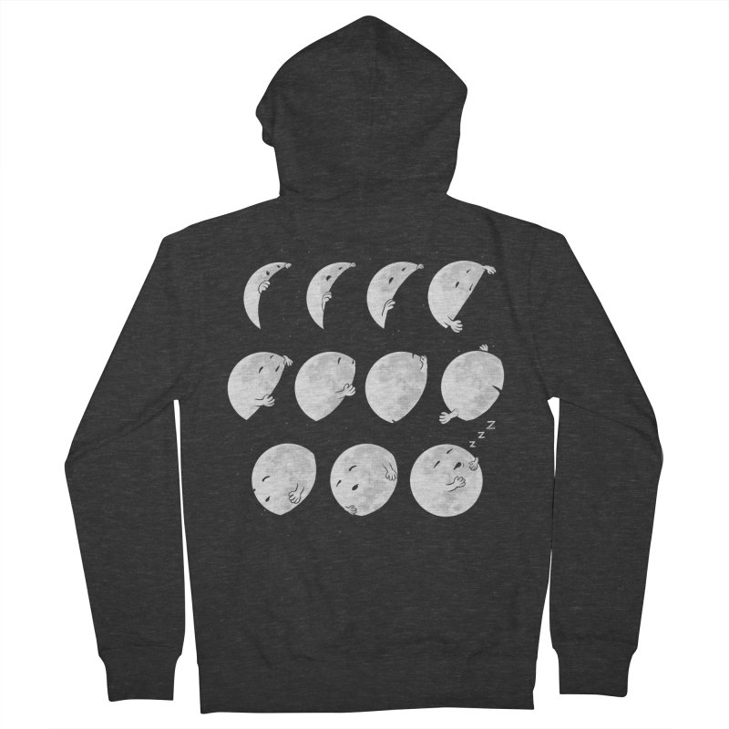 Lunar Phases of Sleep Women's French Terry Zip-Up Hoody by booster's Artist Shop