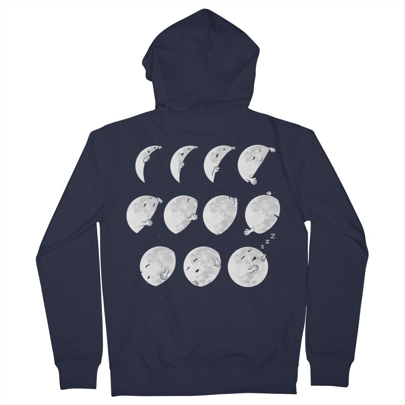Lunar Phases of Sleep Men's French Terry Zip-Up Hoody by booster's Artist Shop