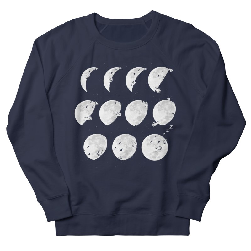 Lunar Phases of Sleep Men's French Terry Sweatshirt by booster's Artist Shop