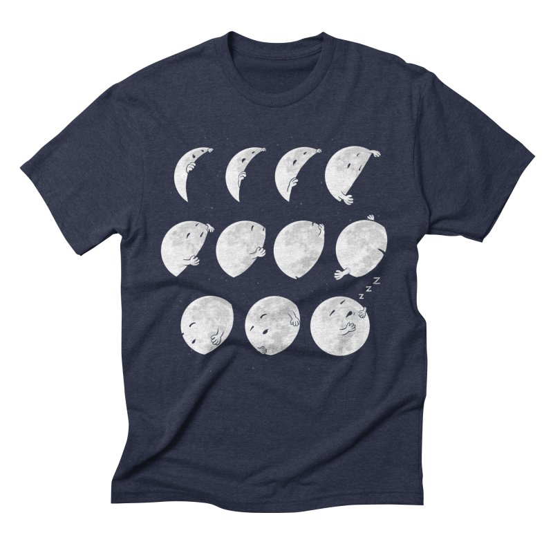 Lunar Phases of Sleep Men's Triblend T-Shirt by booster's Artist Shop