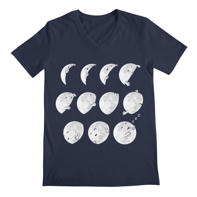 Lunar Phases of Sleep Men's Regular V-Neck by booster's Artist Shop