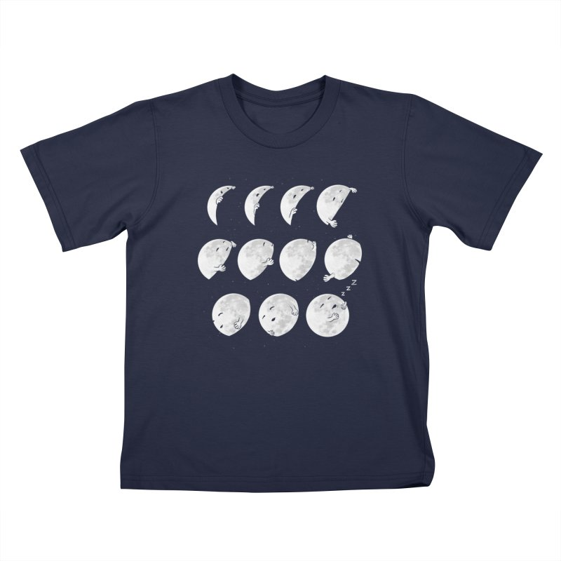 Lunar Phases of Sleep Kids T-Shirt by booster's Artist Shop