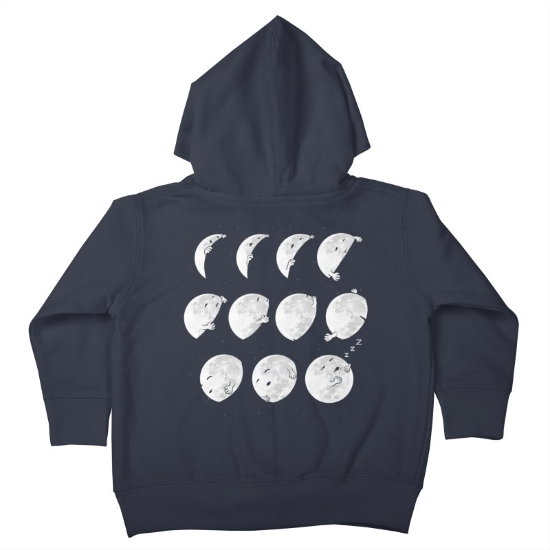 Lunar Phases of Sleep Kids Toddler Zip-Up Hoody by booster's Artist Shop