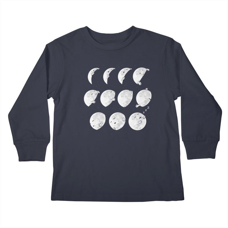 Lunar Phases of Sleep Kids Longsleeve T-Shirt by booster's Artist Shop
