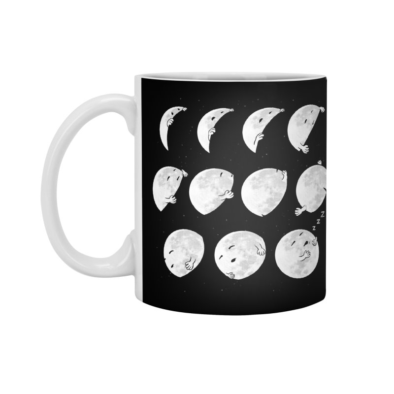 Lunar Phases of Sleep Accessories Mug by booster's Artist Shop