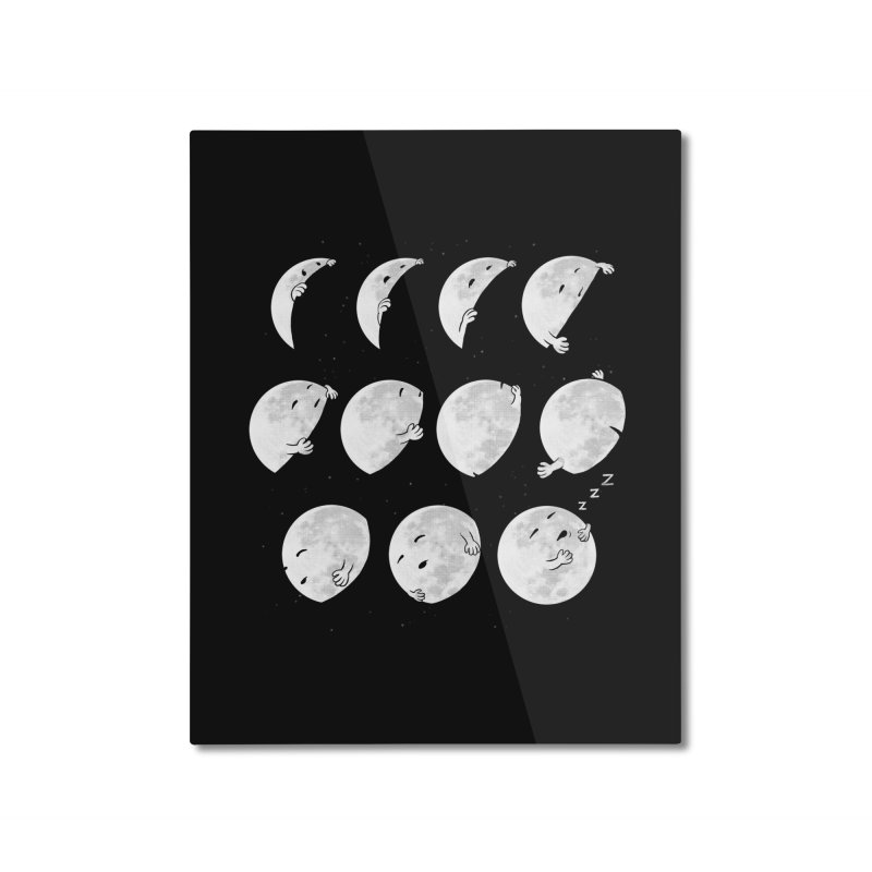 Lunar Phases of Sleep Home Mounted Aluminum Print by booster's Artist Shop