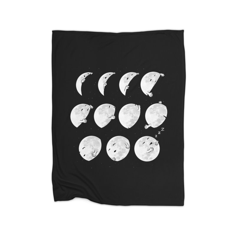 Lunar Phases of Sleep Home Blanket by booster's Artist Shop