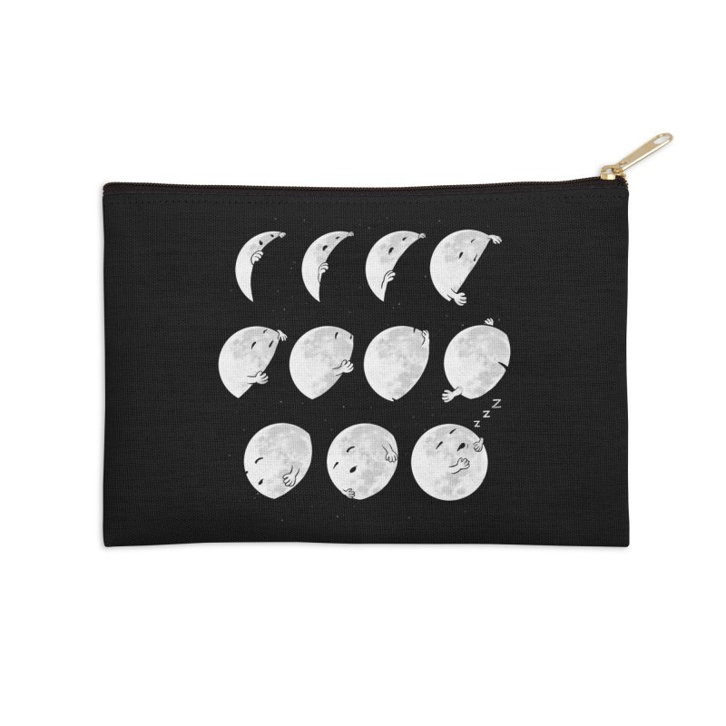 Lunar Phases of Sleep Accessories Zip Pouch by booster's Artist Shop