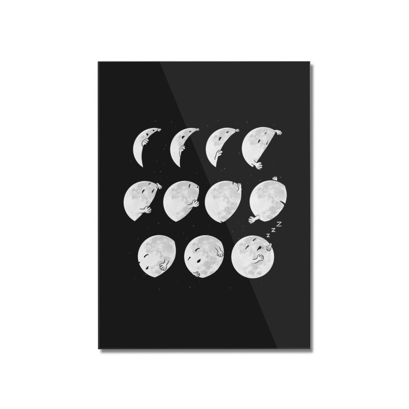 Lunar Phases of Sleep Home Mounted Acrylic Print by booster's Artist Shop