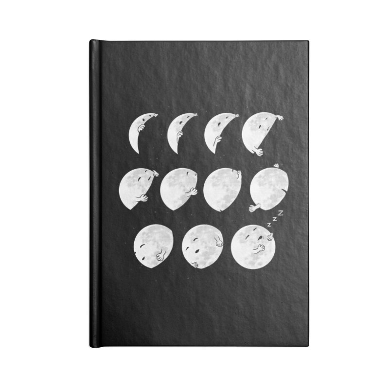 Lunar Phases of Sleep Accessories Lined Journal Notebook by booster's Artist Shop