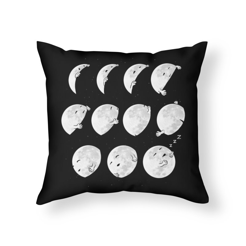 Lunar Phases of Sleep Home Throw Pillow by booster's Artist Shop